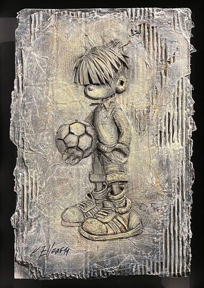 Craig-Everett-Ball Boy-3D-Original-Painting