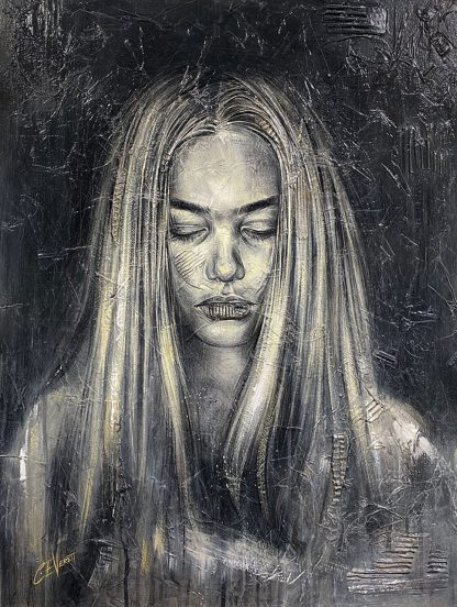 Craig-Everett-Contemplation-3D-Original-Painting