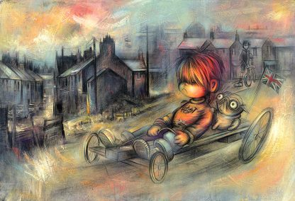 Craig-Everett-Fast-adn-Furryious-Original-Painting