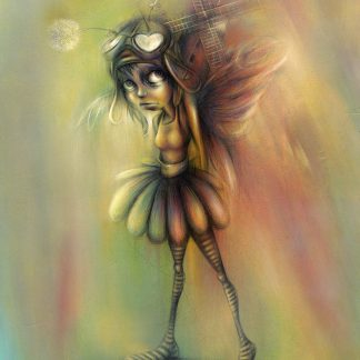 Craig-Everett-Fly-Girl-Original-Painting