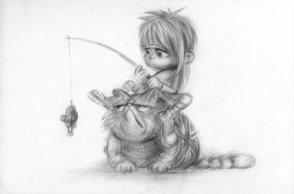 Craig-Everett-Rat-Cat-cher-Original-Sketch