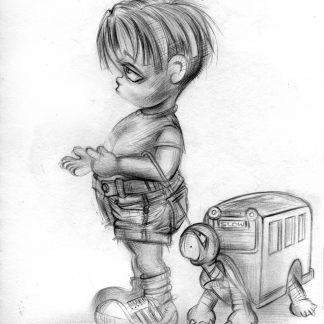 Craig-Everett-Slow-Coach-Original-Sketch