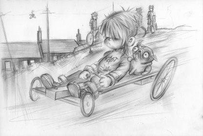 Craig-Everett-The-Fast-and-The-Furryious-Original-Sketch