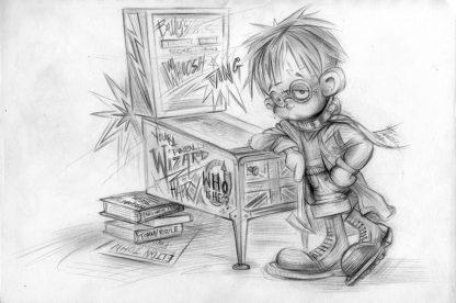 Craig-Everett-You-are-A-Pinball-Wizard Harry-Original-Sketch