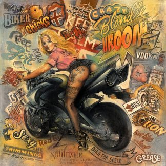 Craig-Everett-limited-print-Biker-Chick