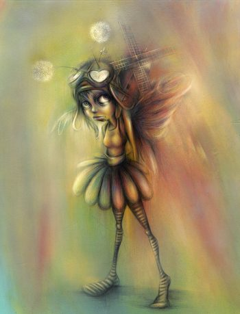 Craig-Everett-Fly-Girl-Original-Painting
