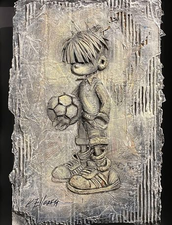 Craig-Everett-Ball Boy-3D-Original-Painting