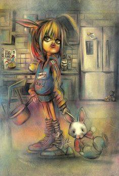 Original-painting-Craig-Everett-bunny-boiler